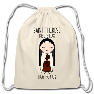 Open image in slideshow, Saint Therese Cotton Drawstring Bag - natural