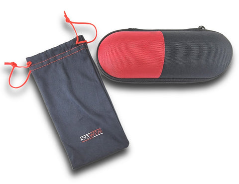 FYEWEAR pouch and case to carry sunglasses and extra sets of temples