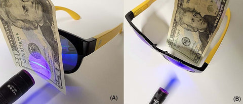 Demo to show FYEWEAR sunglasses have total Ultraviolet (UV) rays protection