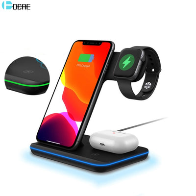 15W 3 in 1 Qi Wireless Charger Stand for iPhone, AirPods & Apple Watch