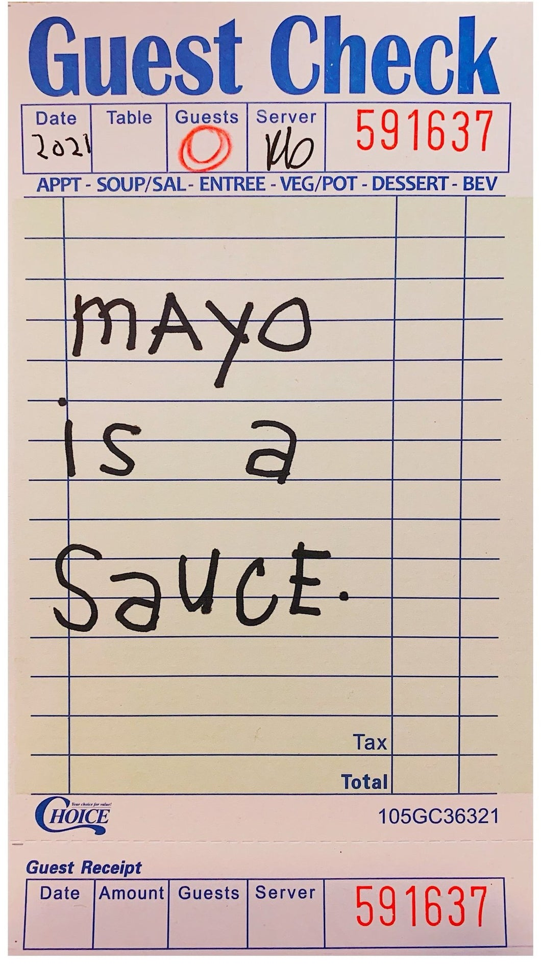 Mayo Is A Sauce - 8X12in Giclee Fine Art Print