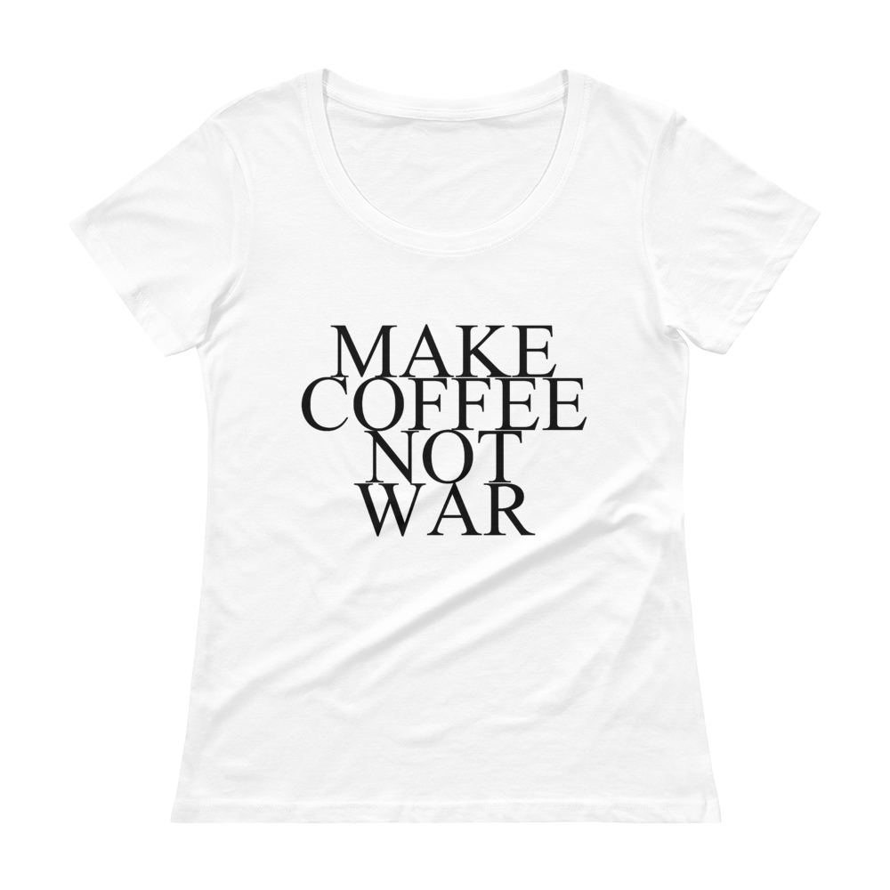HIPPIE SHIRT MAKE COFFEE NOT WAR