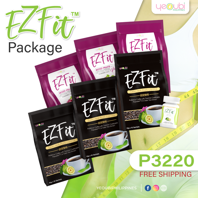 EZFit Package 3 EZFit Coffee + 3 EZFit Juice + 1 EzFit Capsule 3220 Only!