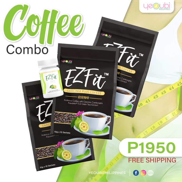 Cash On Delivery Free Shipping EZFit Coffee Combo 1 EZfit Capsule P1950