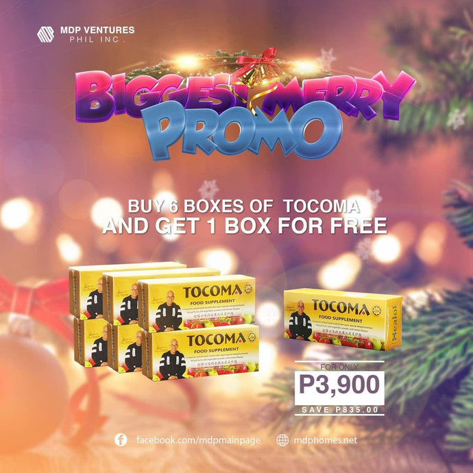 Tocoma Biggest Merry Promo Cash On Delivery Free Shipping 6 + 1