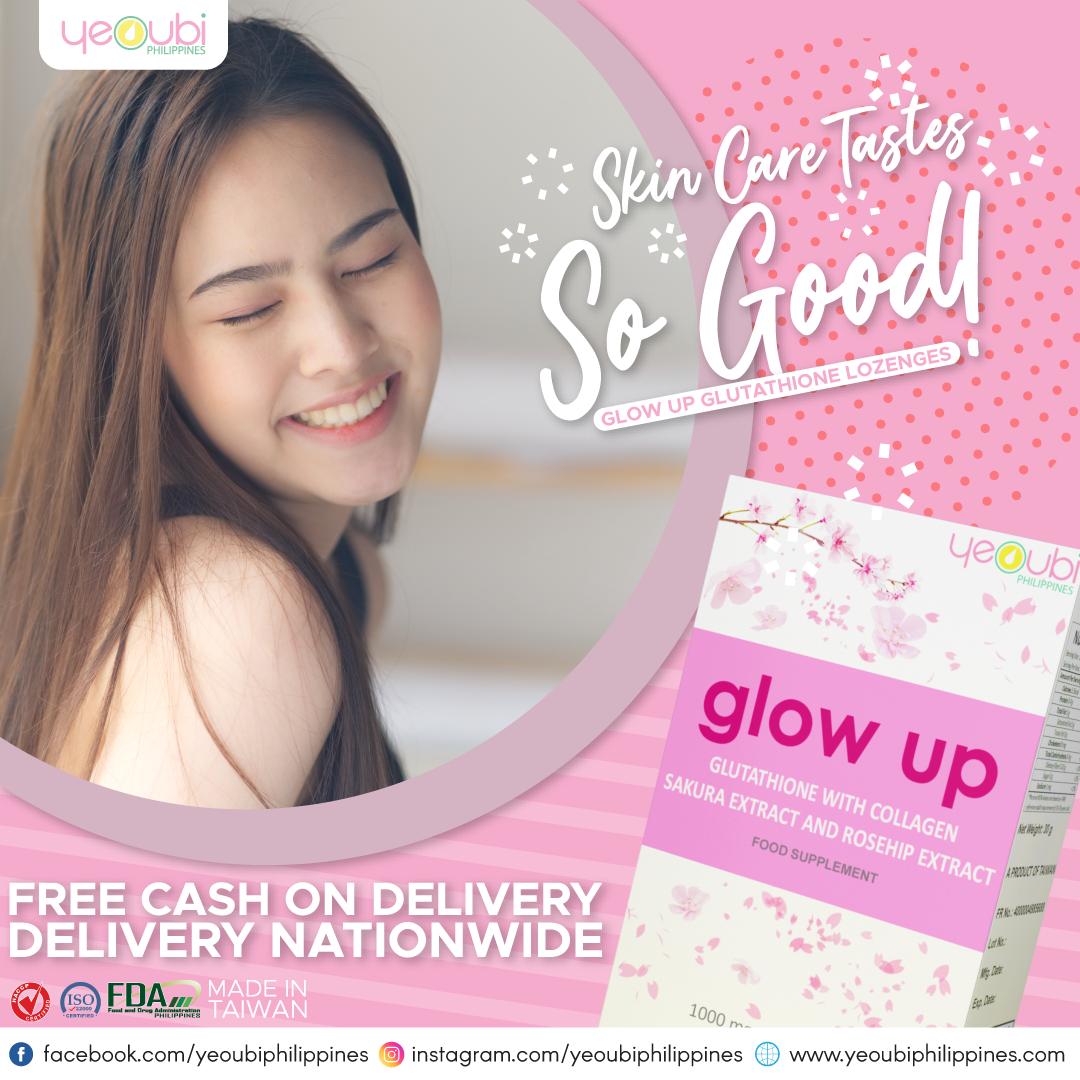 GLOW UP GLUTATHIONE LOZENGE Cash on delivery , free shipping