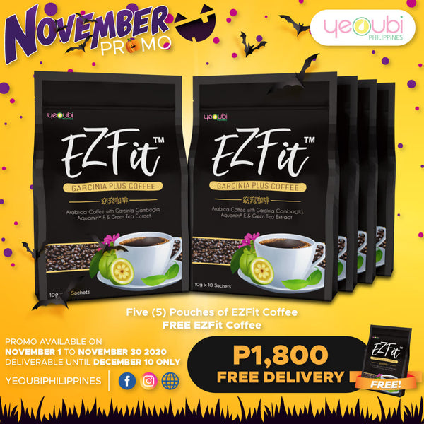 EzFit Cofee 5 boxes + Free 1 EzFit Coffee November Promo