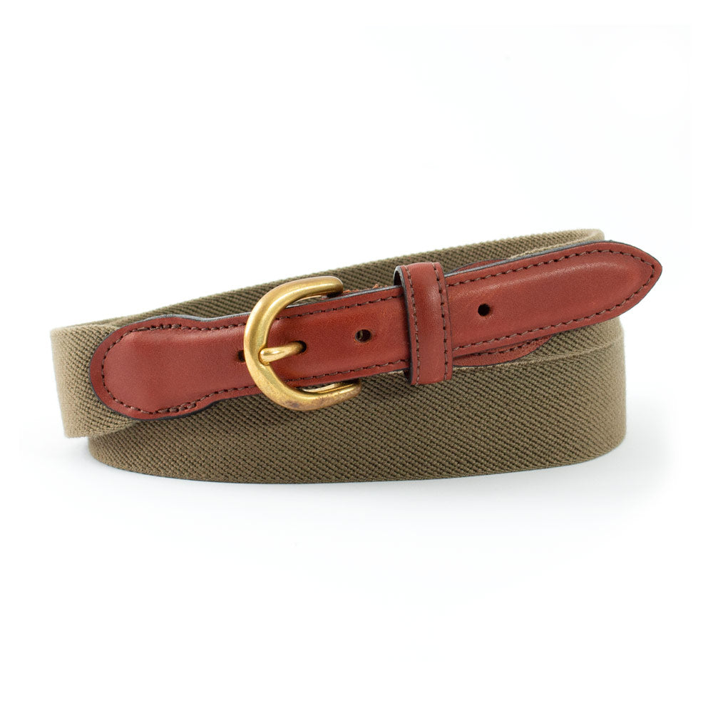 Olive Belgian Stretch Children's Belt