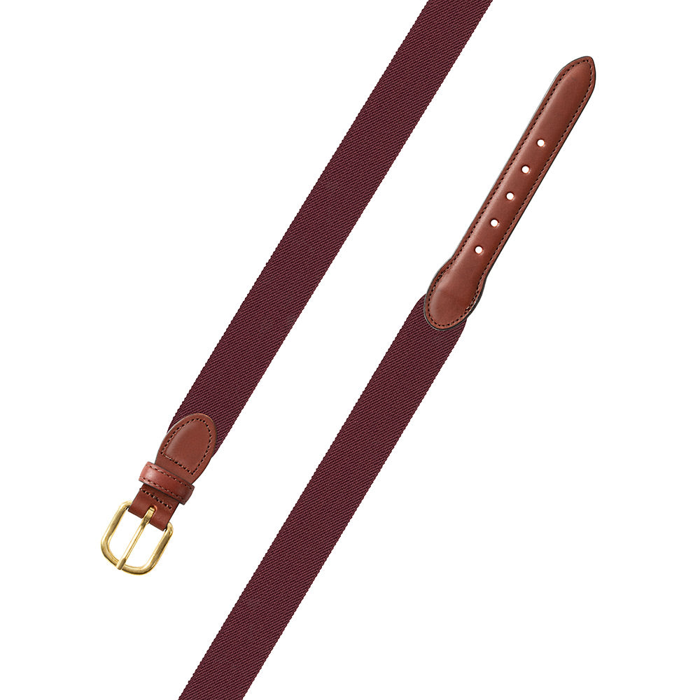 Burgundy Belgian Stretch Children's Belt