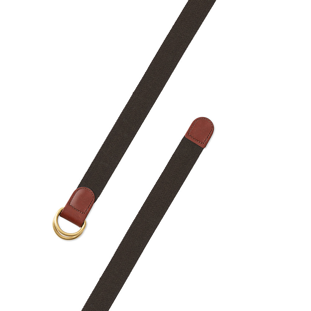 Brown Belgian Stretch D-Ring Belt