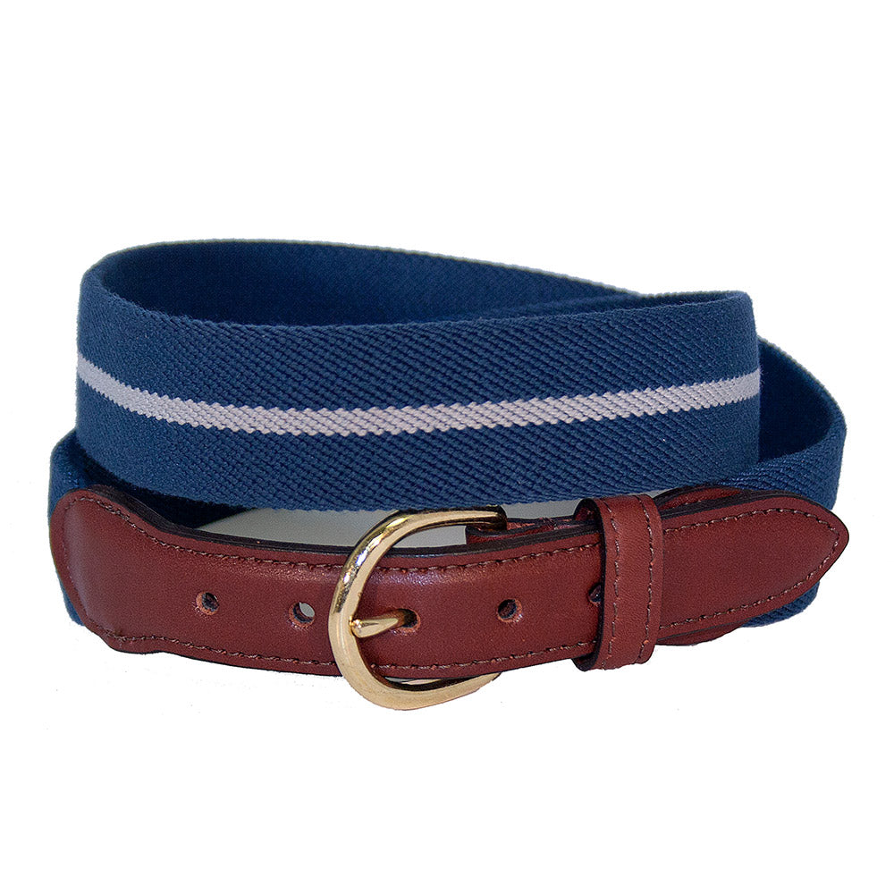 Blue & Grey Belgian Stretch Children's Belt