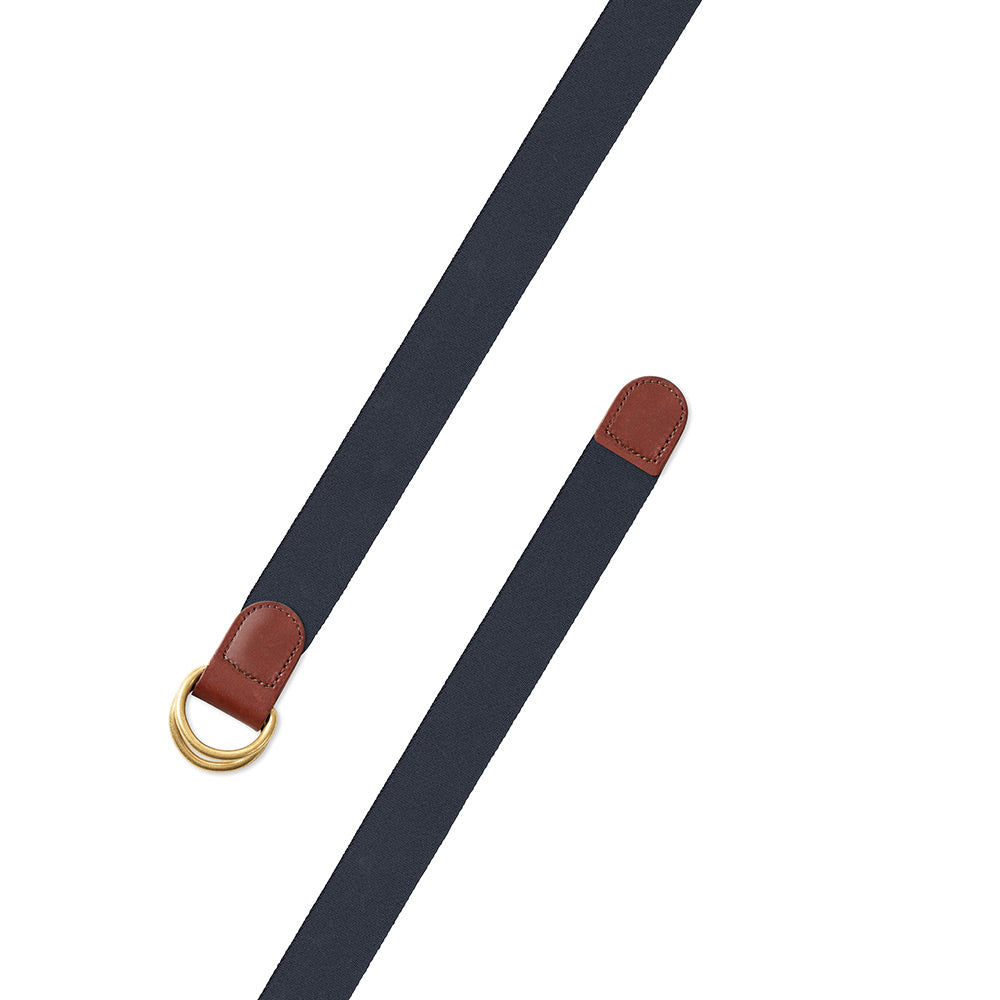 Navy Belgian Surcingle D-Ring Belt