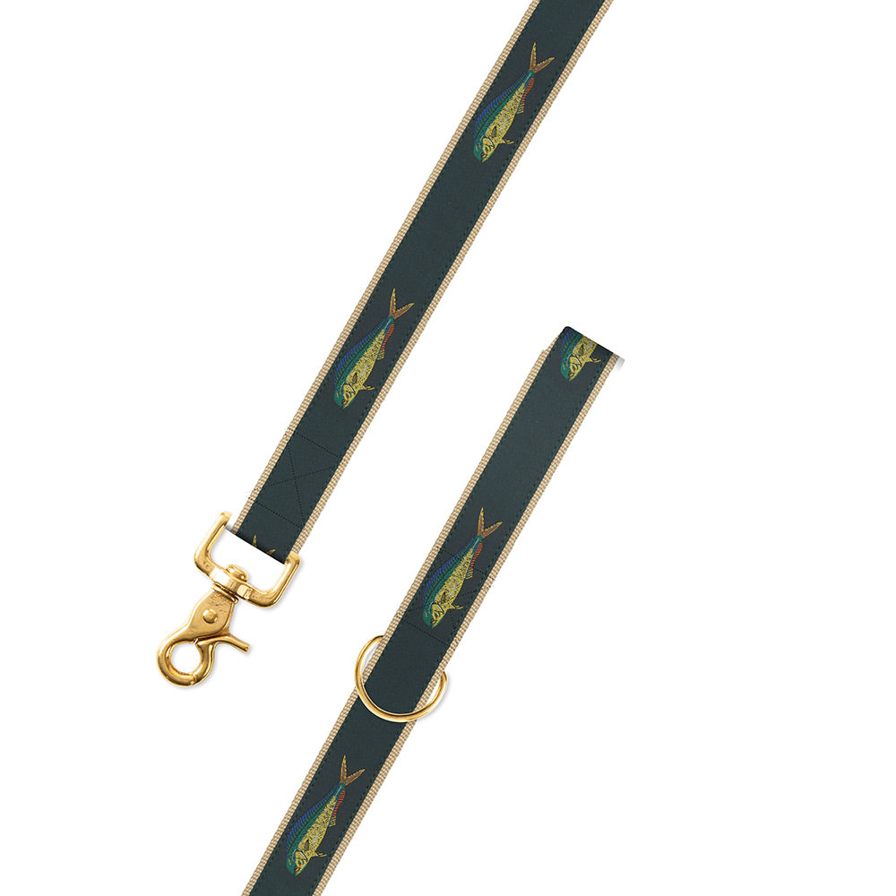 Green Dolphin Motif Dog Leash