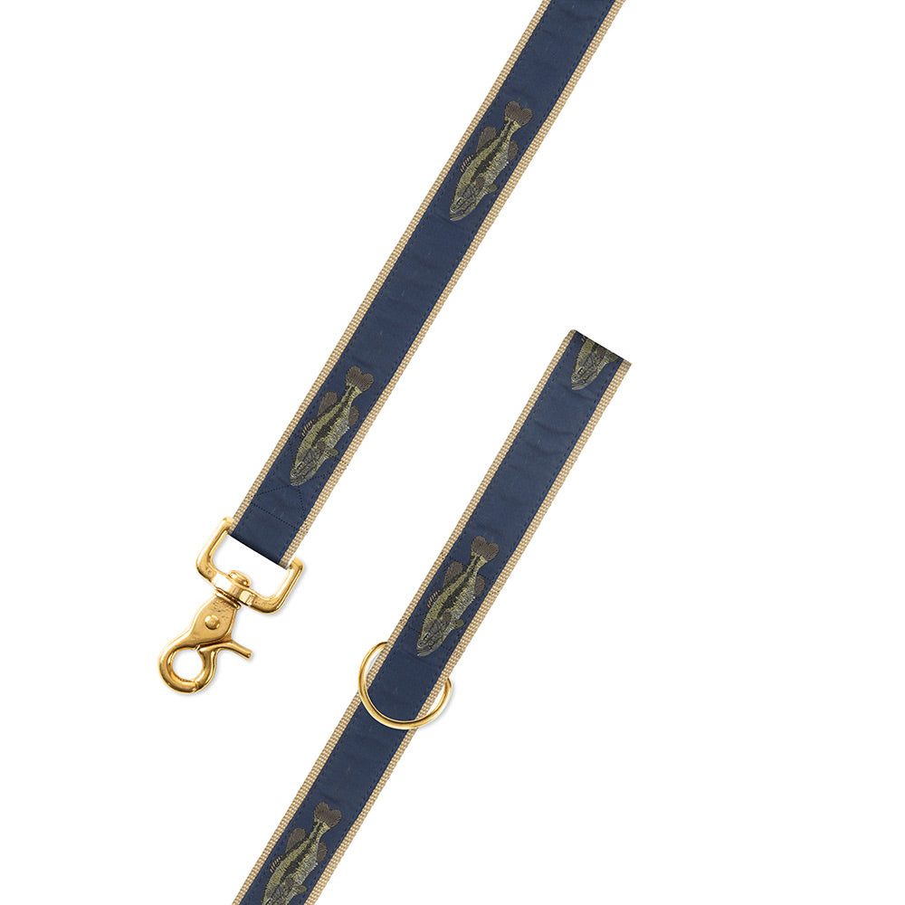 Large Mouth Bass Motif Dog Leash
