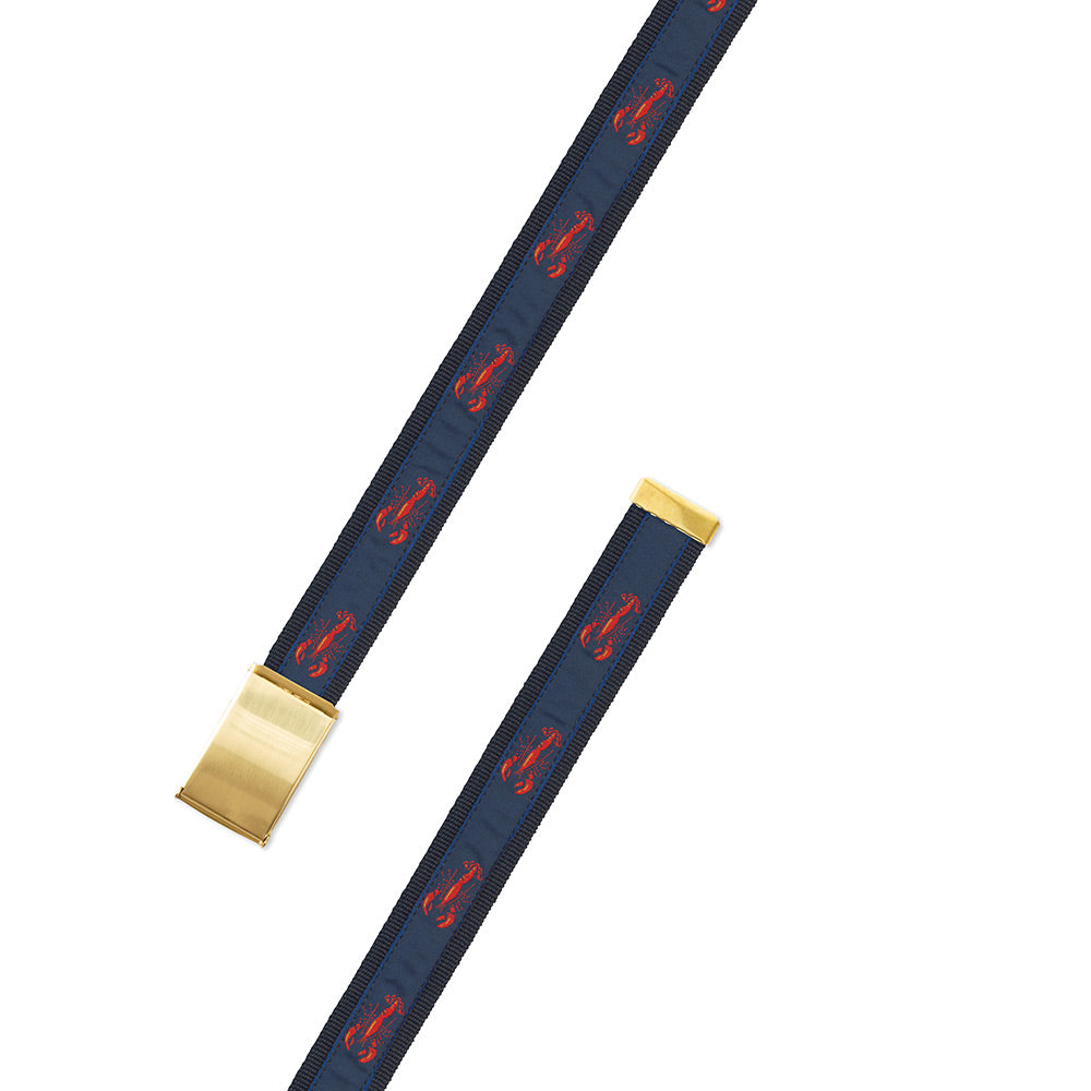 Navy Lobster Motif Military Buckle Belt
