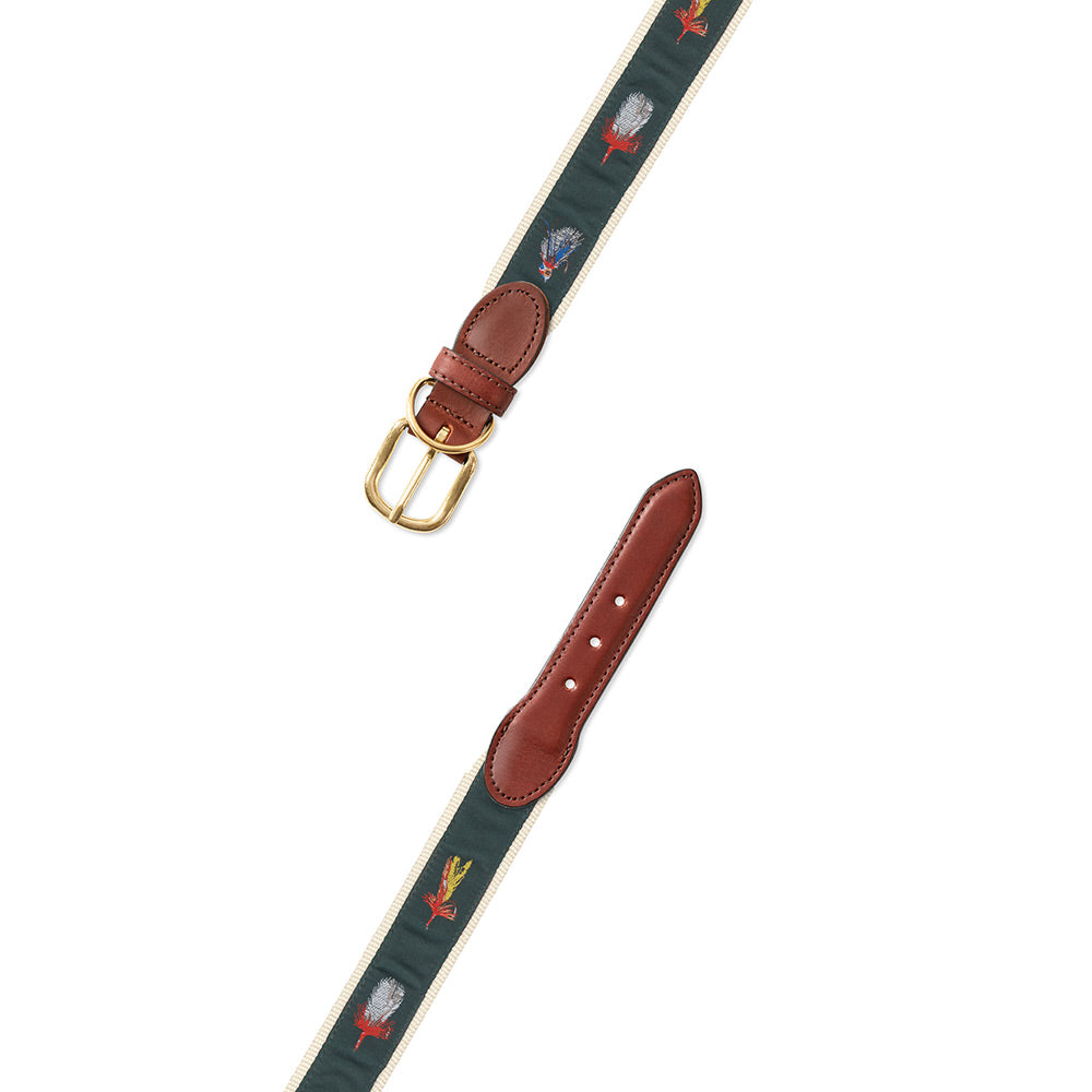 Green Salt Flies Motif Dog Collar
