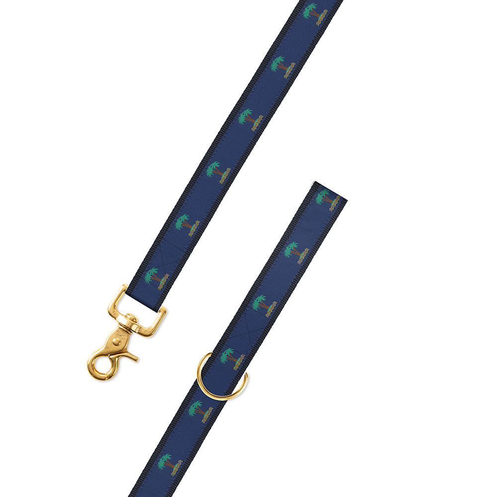Palm Trees on Navy Motif Dog Leash