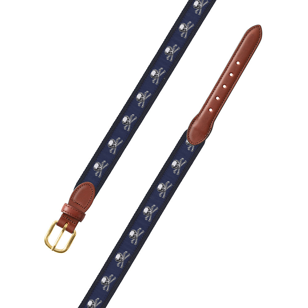 Cross Bones Motif Children's Belt