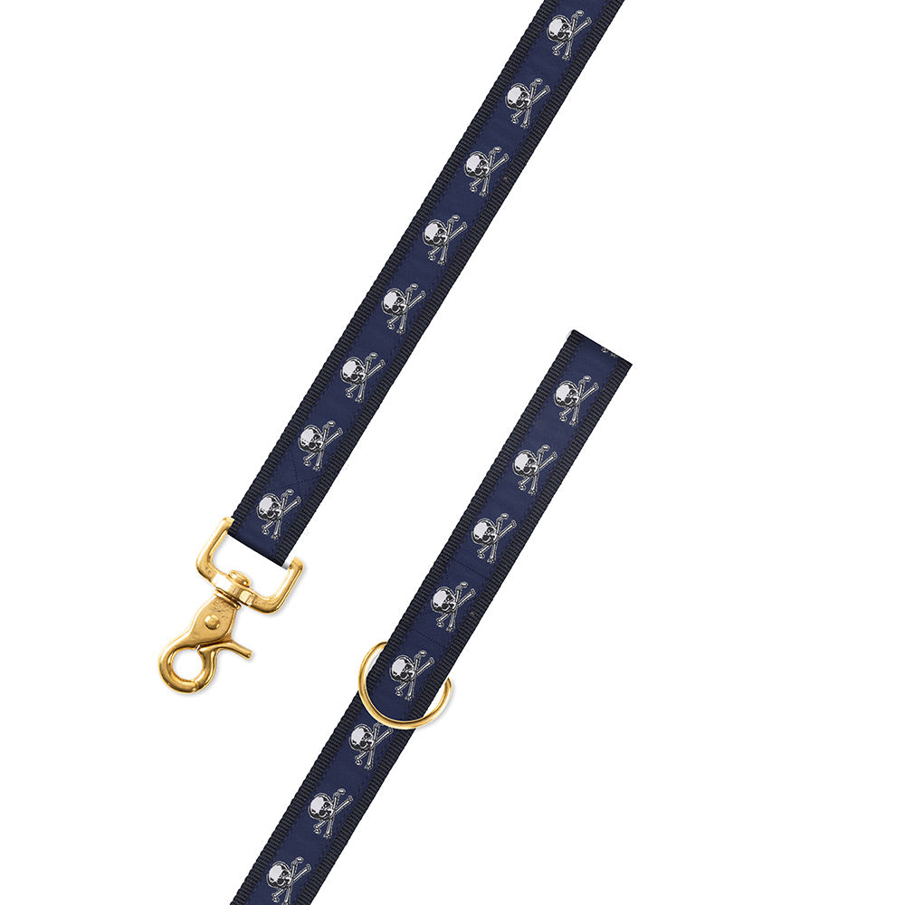 Cross Bones Motif Dog Leash