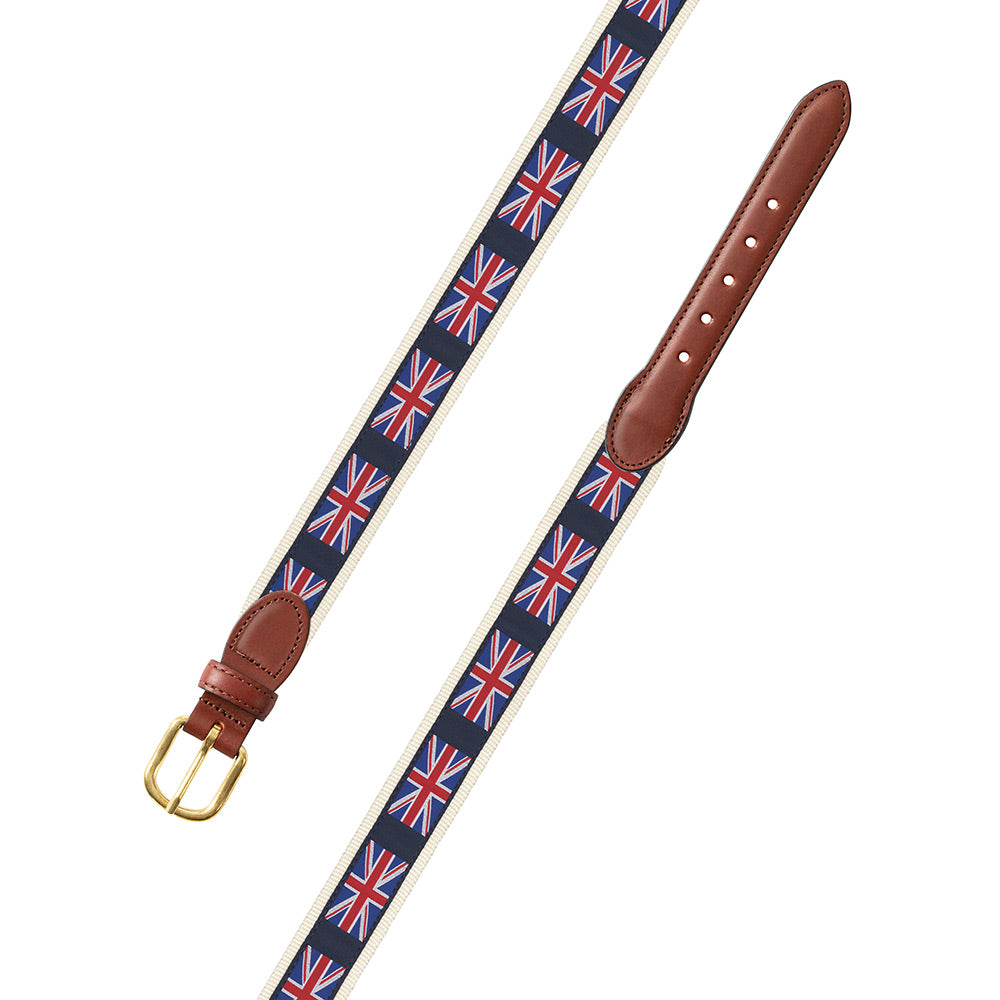 Union Jack on White Motif Children's Belt