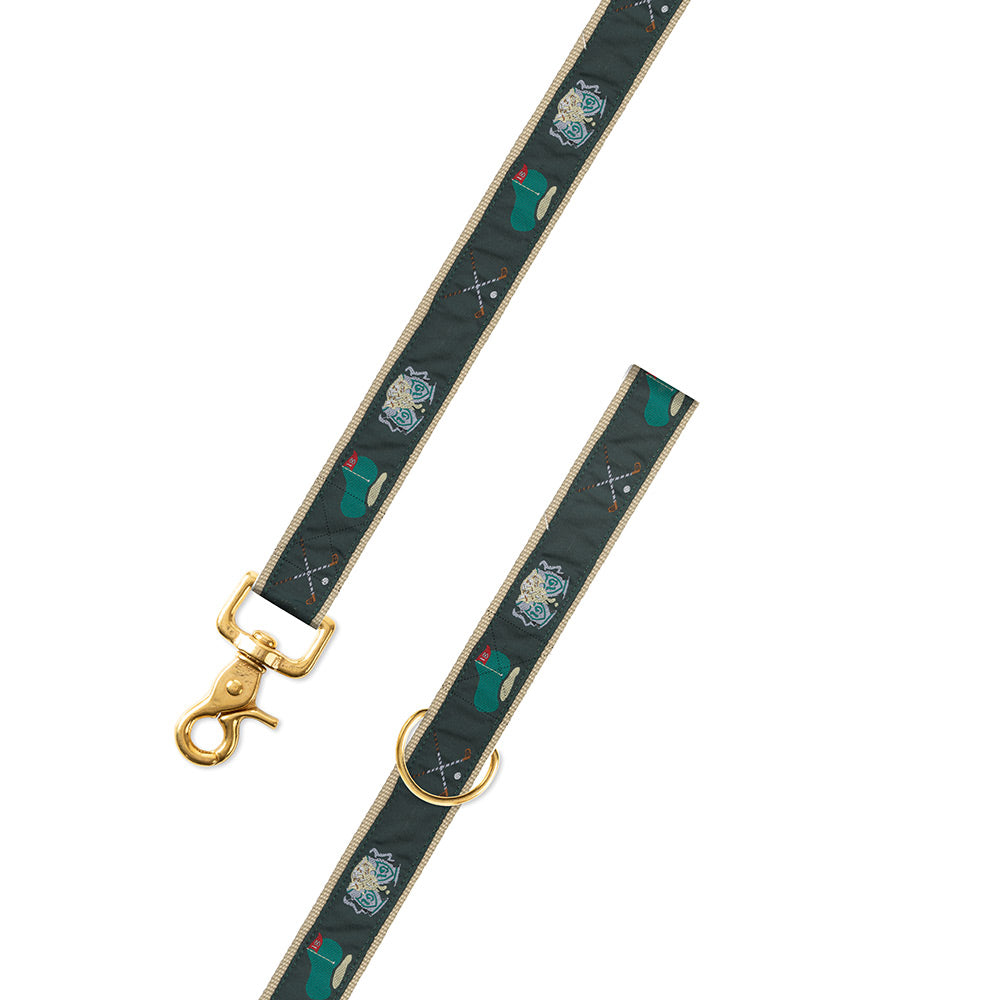 Green Golf Motif Dog Leash