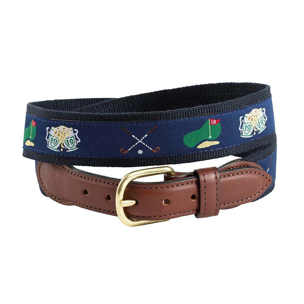 Navy Golf Motif Children's Belt