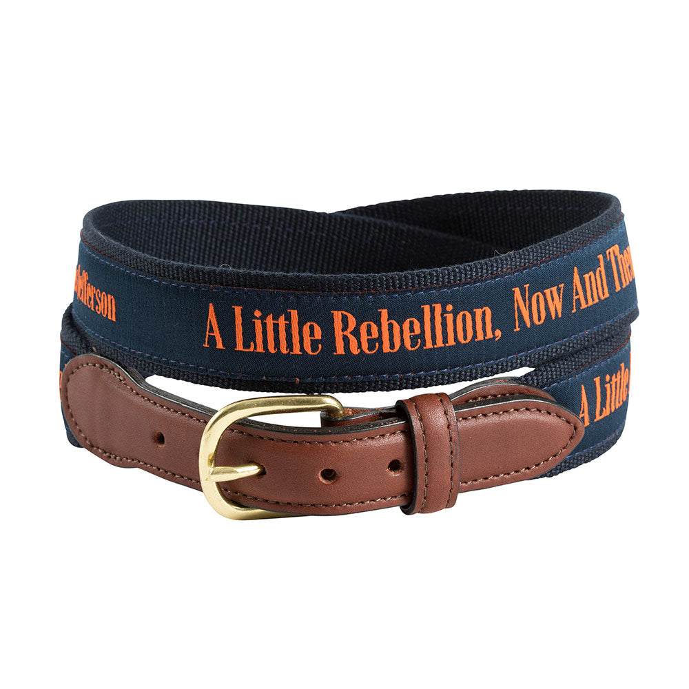 A Little Rebellion Bespoken Motif Leather Tab Belt