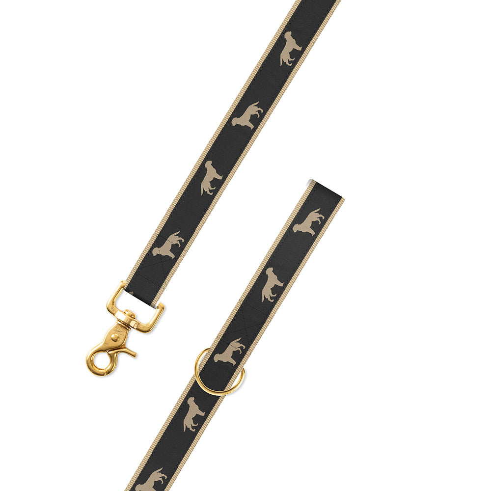 Golden Dog Motif Dog Leash