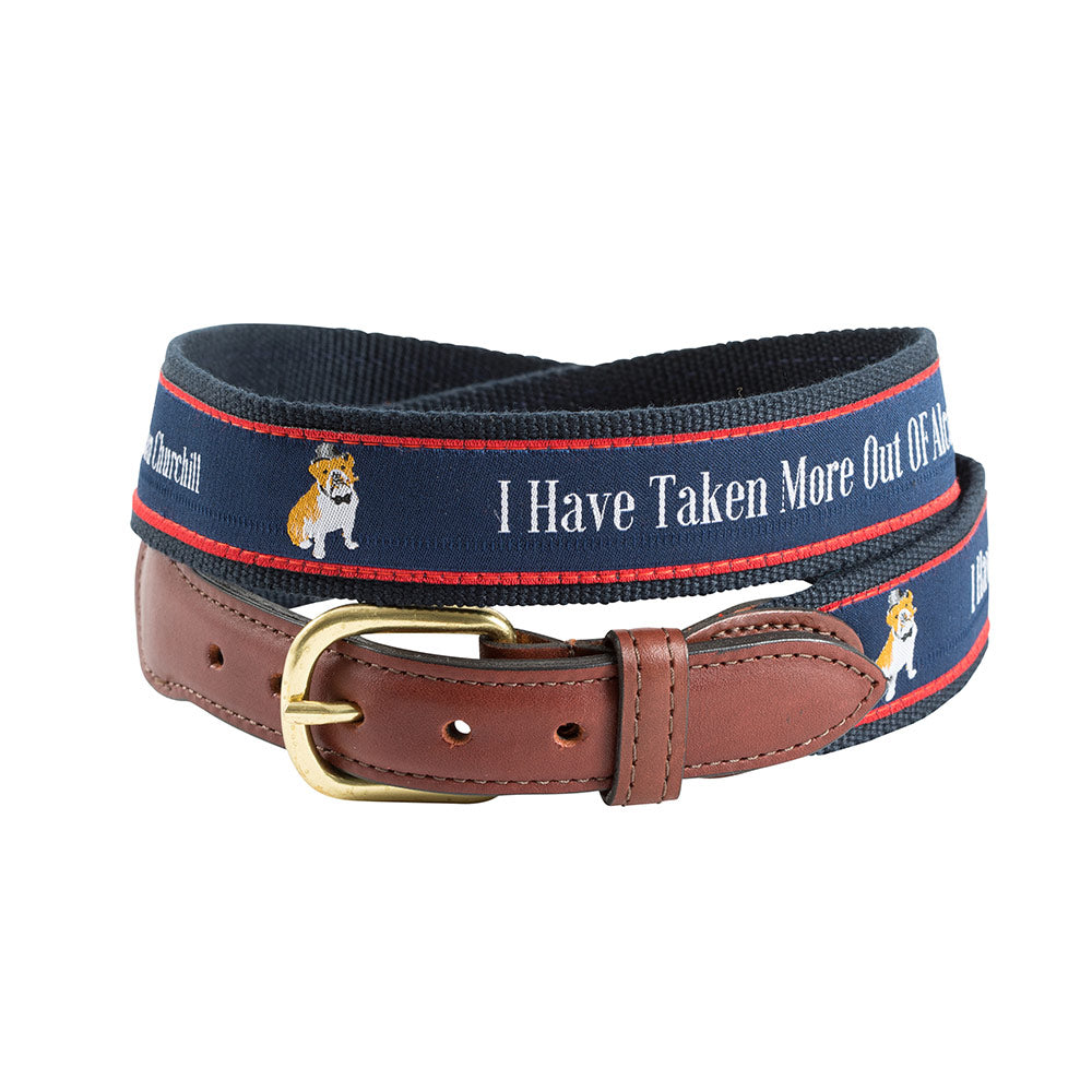I Have Taken More Bespoken Motif Leather Tab Belt