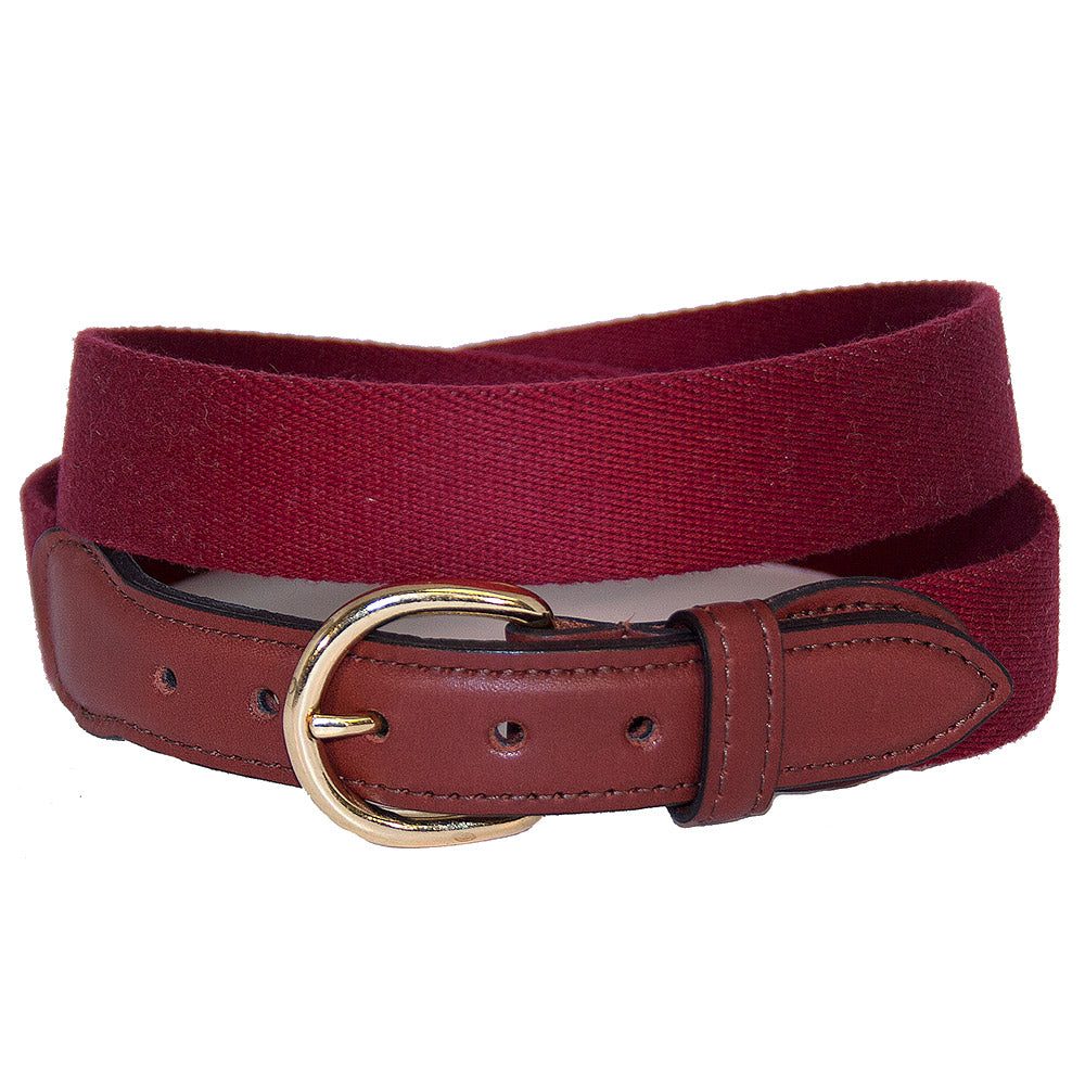 Cranberry Surcingle Leather Tab Belt