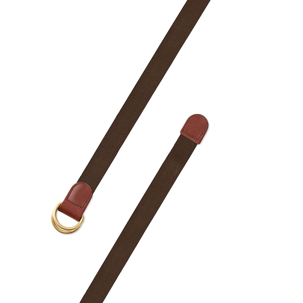 Brown Surcingle D-Ring Belt