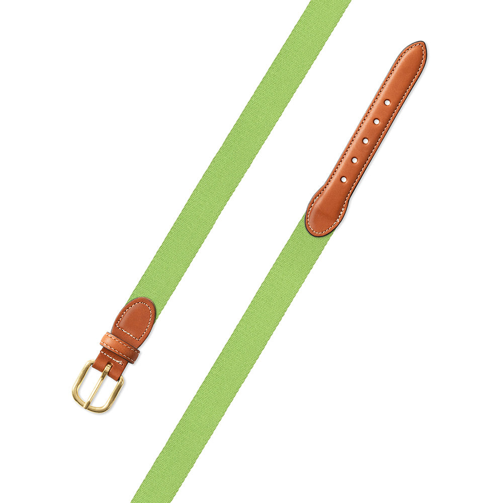 Spring Green Surcingle Leather Tab Belt