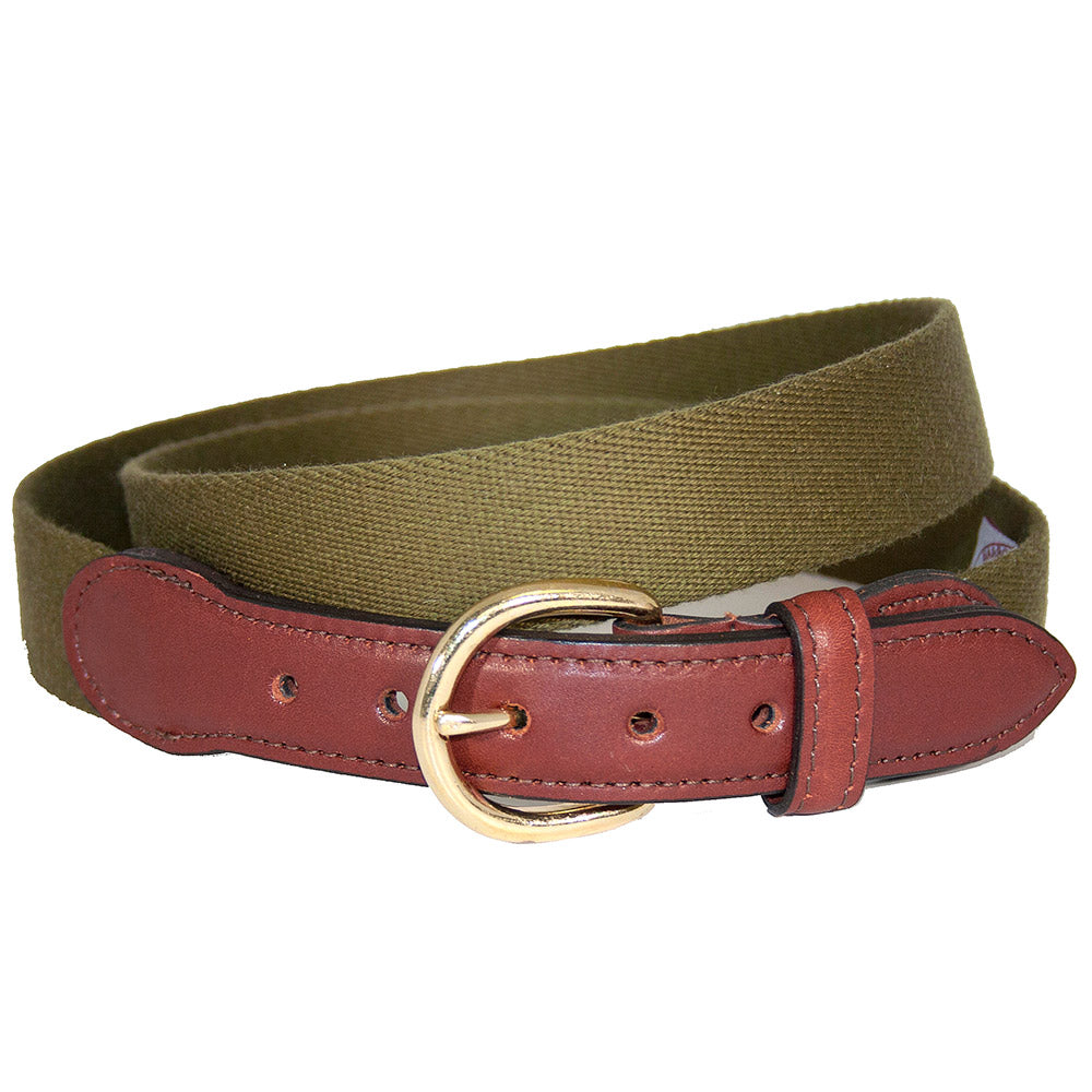 Olive Green Surcingle Children's Belt