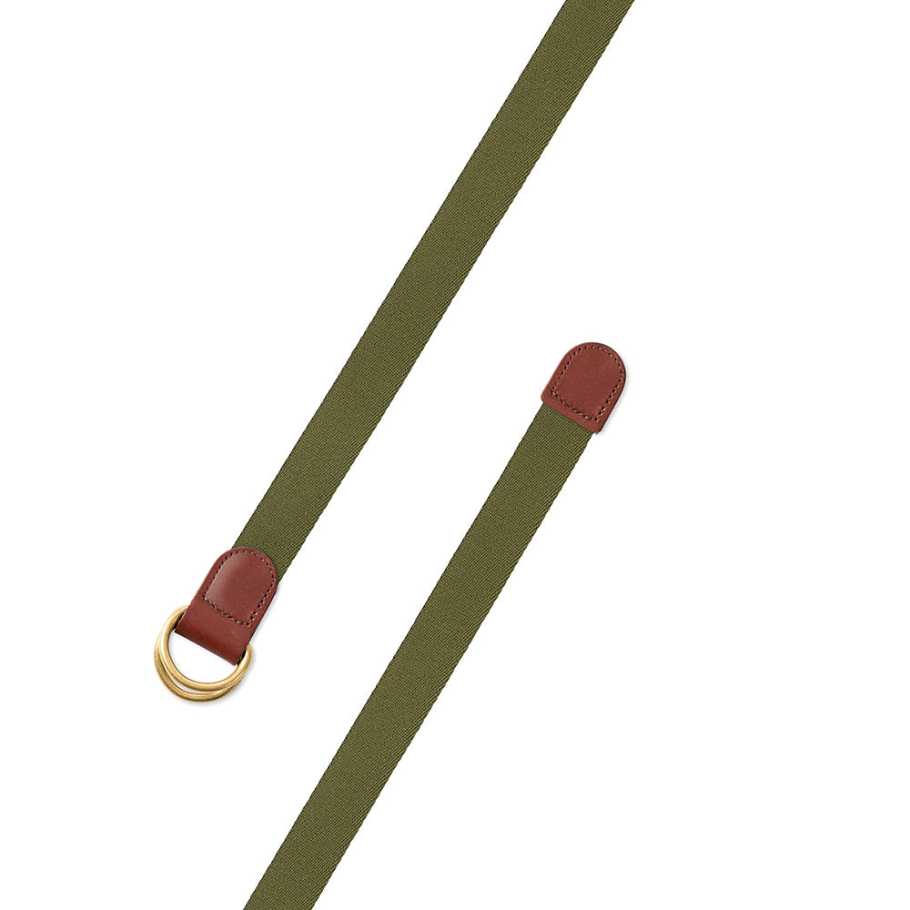 Olive Green Surcingle D-Ring Belt