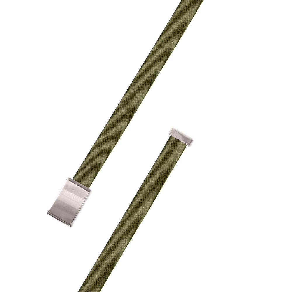 Olive Green Surcingle Military Buckle Belt