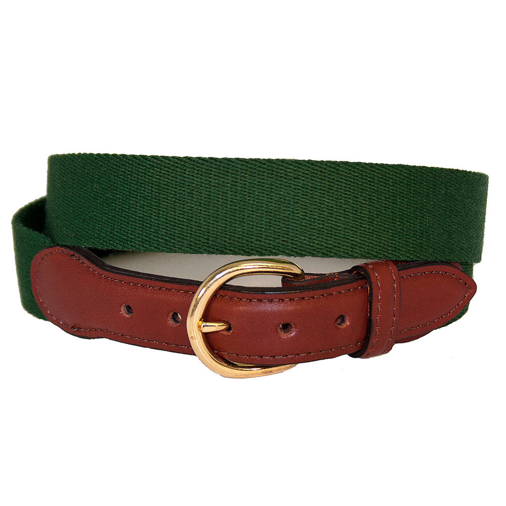 Hunter Green Surcingle Children's Belt
