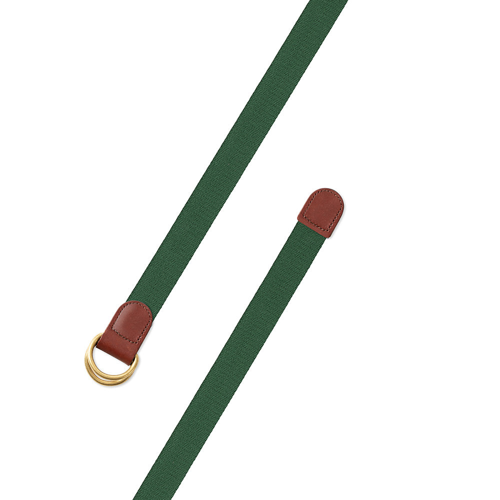 Hunter Green Surcingle D-Ring Belt