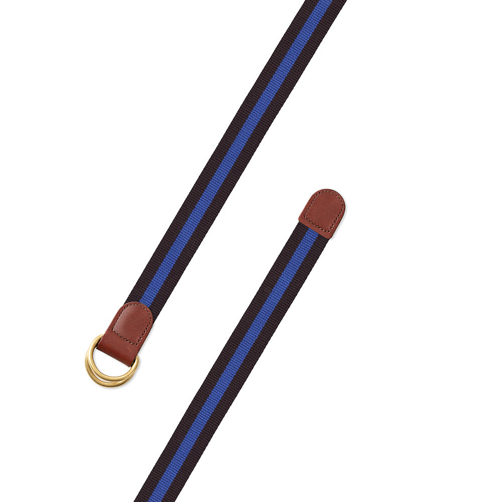 Black & Blue Surcingle D-Ring Belt
