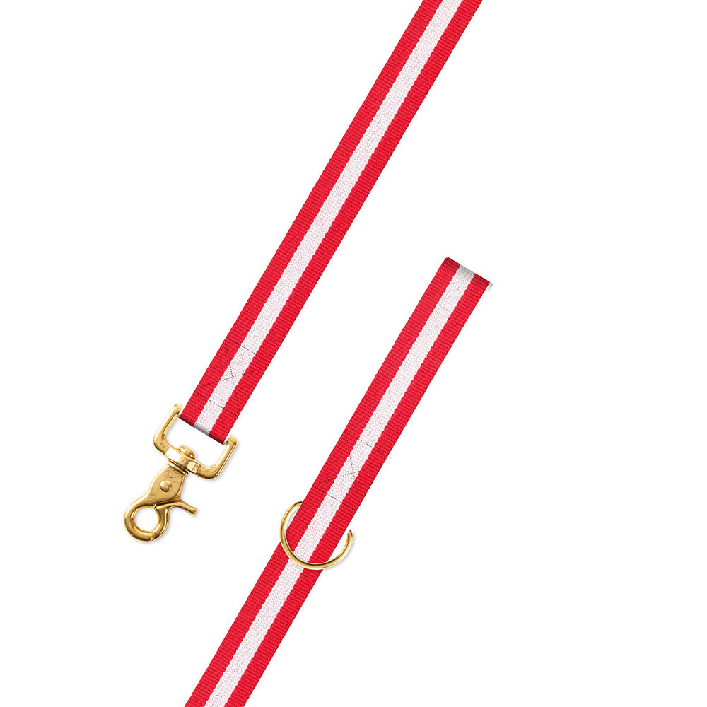 Red & White Surcingle Dog Leash