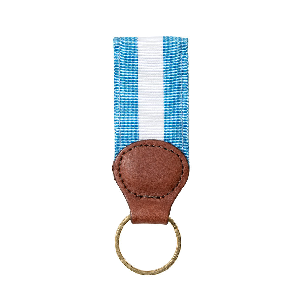 Carolina Blue & White Grosgrain Ribbon Key Fob