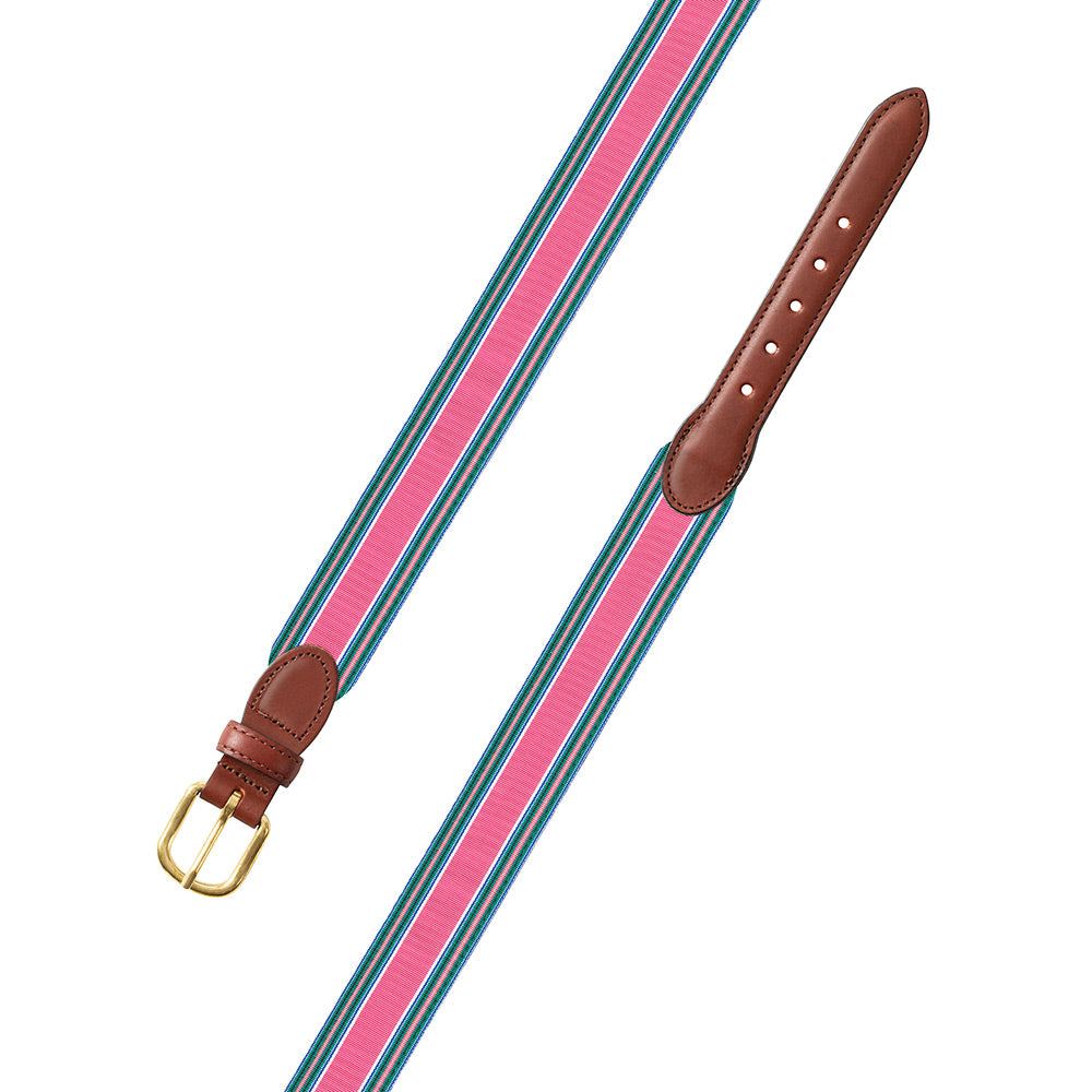 Pink Multi Grosgrain Ribbon Children's Belt