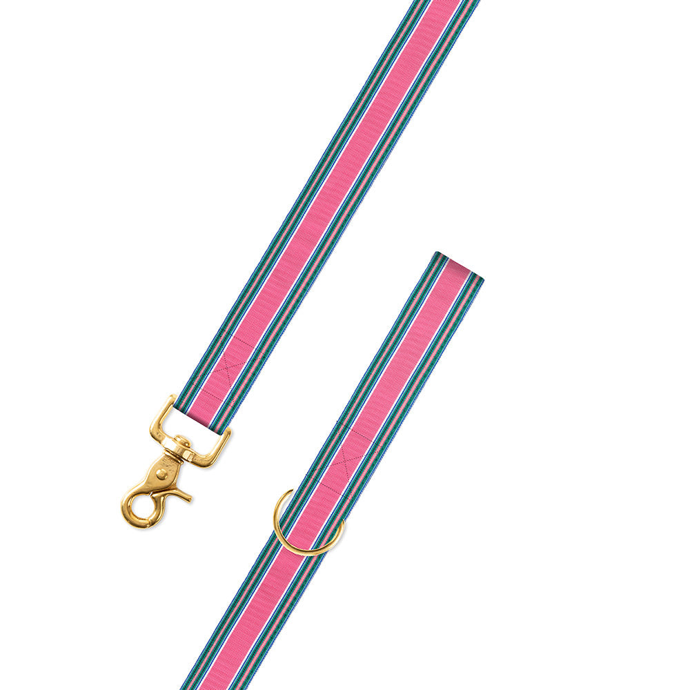 Pink Multi Grosgrain Ribbon Dog Leash