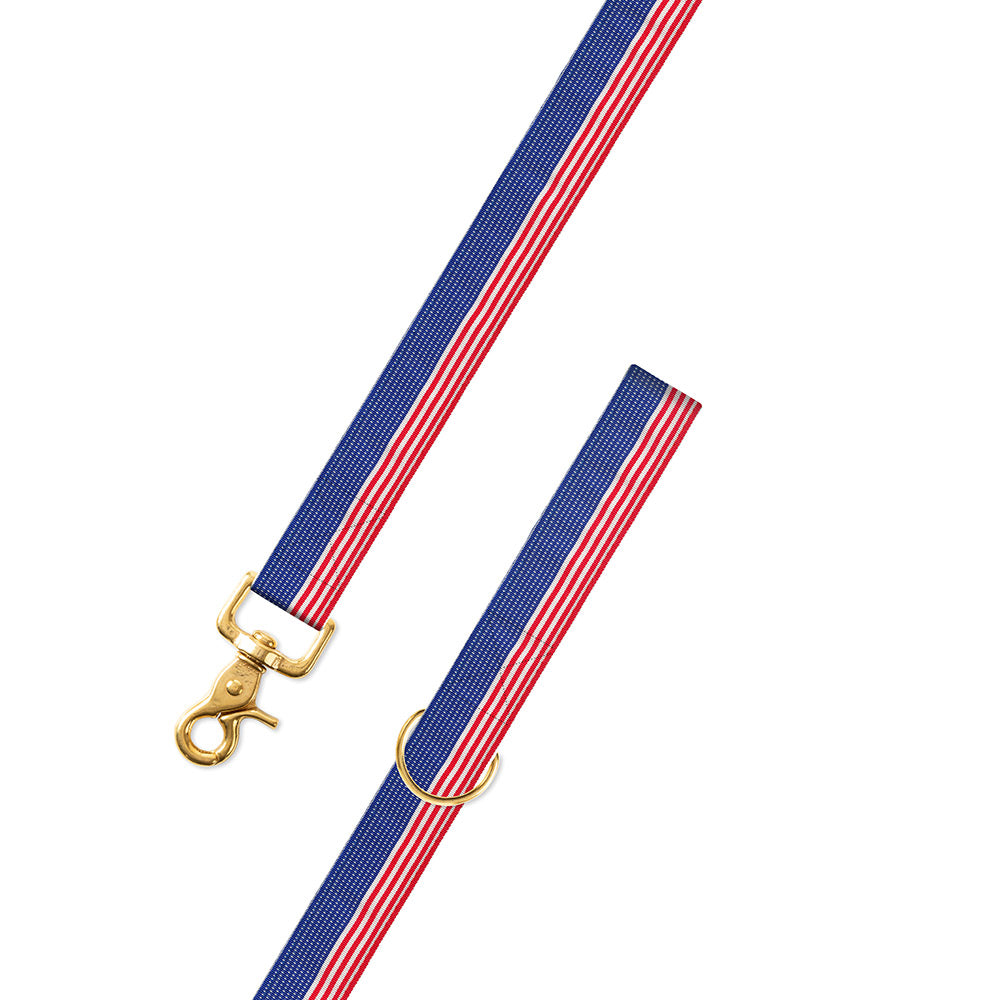 Flag Pattern Grosgrain Ribbon Dog Leash
