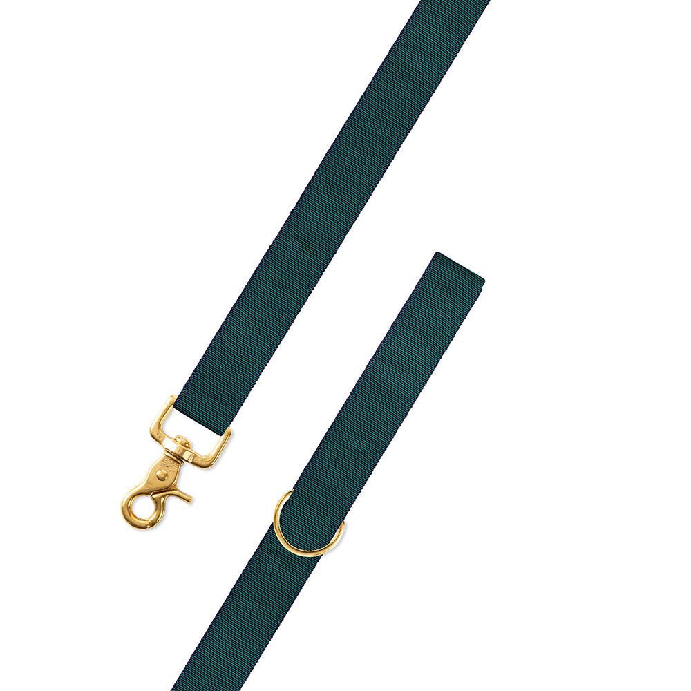 Green & Navy Grosgrain Ribbon Dog Leash