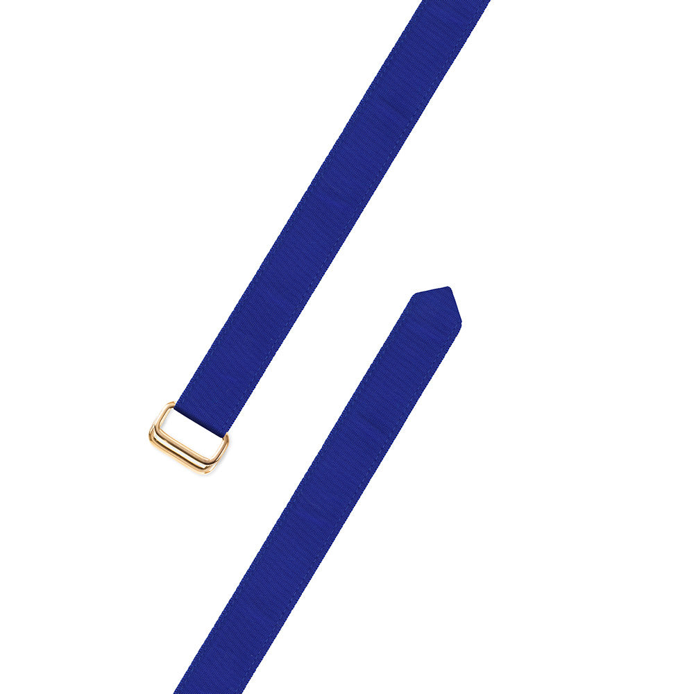 Royal Blue Grosgrain Ribbon D-Ring Belt