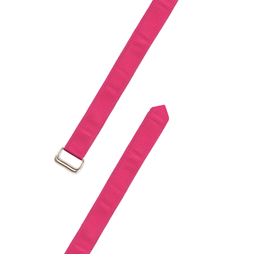 Pink Grosgrain Ribbon D-Ring Belt