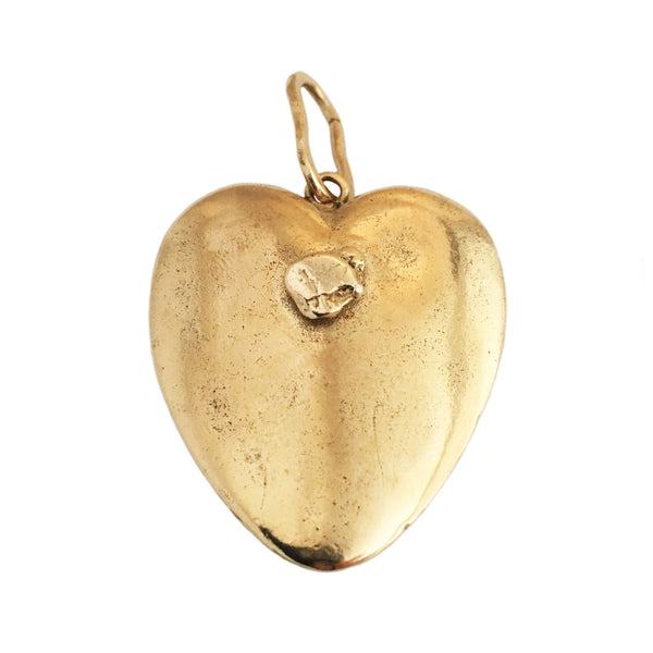 Apis ancient bronze cast Yukon Gold Nugget Heart