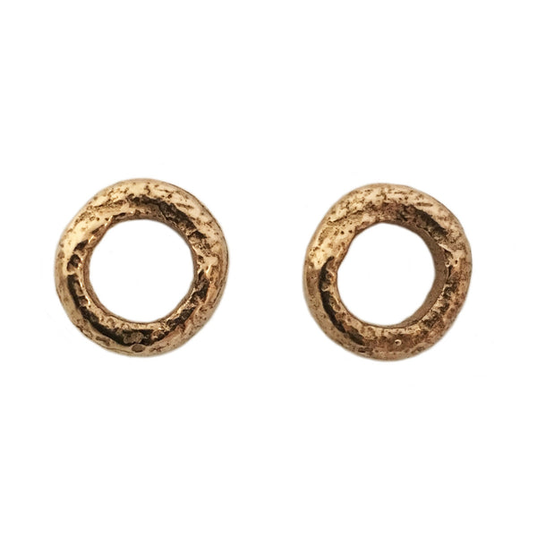 Apis ancient bronze handmade rough chain Rhea studs