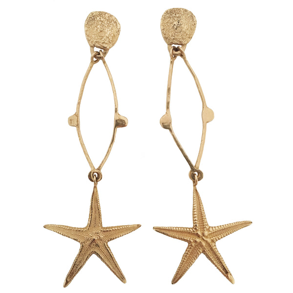 Apis ancient bronze handmade Shooting Star Earrings