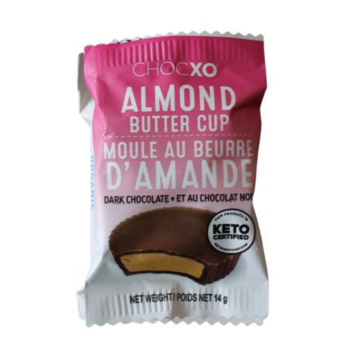 Organic Dark Chocolate Keto Almond Butter Cups from Boxesat Keto Snack Box